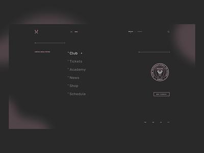 Inter Miami CF | Concept din web design soccer miami inter navigation grid ui hero