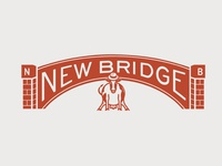 New Bridge Cheese (pt. II) red college mascot cow freelance studio designer art packaging cheese branding concept brand bridge design concept retro vintage brand assets branding illustration