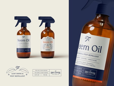 Neem Oil Label Design clean minimal strategy identity bottle design diecut ui brand typography packaging asset icon lettering branding vintage concept spray oil bottle illustration