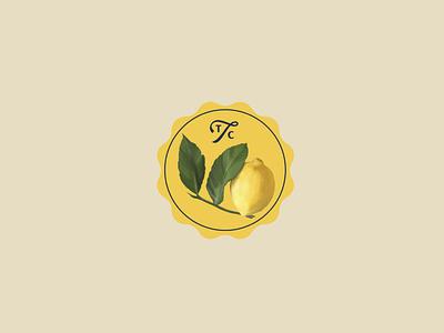 Lemon Tree Growing Seeds Label color team studio brand icon lettering logo identity branding typography illustrator illustration art concept contemporary retro vintage spring packaging label
