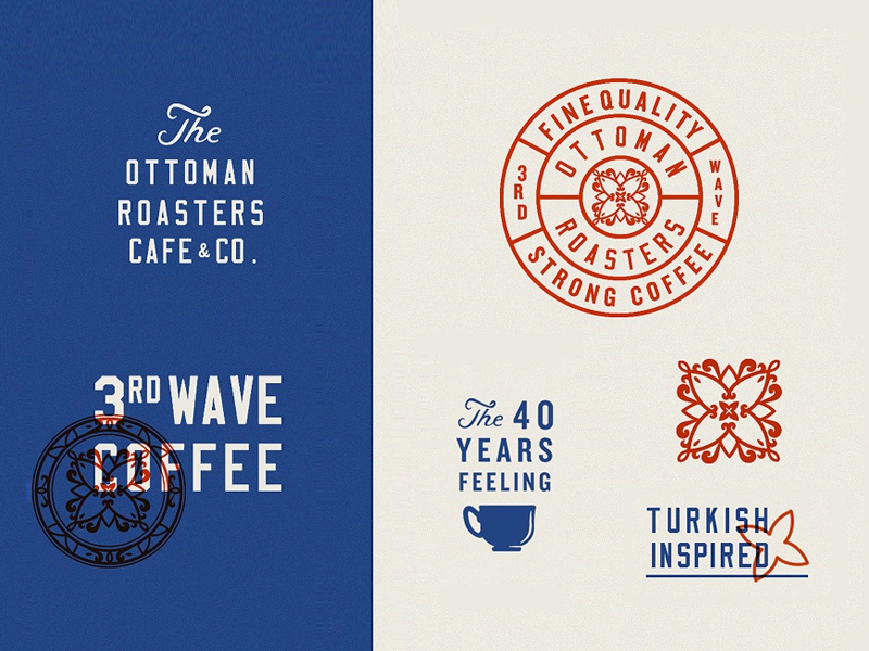 The Ottoman Roasters Brand Assets logo icon tea branding cafe turkish roasting coffee ottoman art design vintage