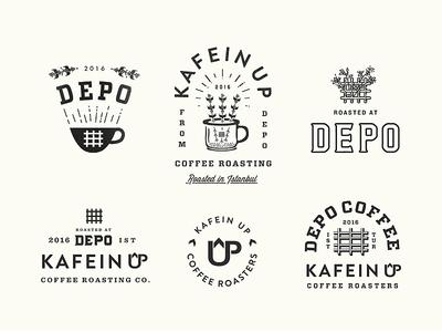 Depo Coffee Istanbul Exploration lettering icon roaster artisan design art istanbul identity industrial vintage illustration coffee