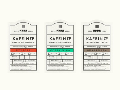 Labels for Depo Coffee Istanbul
