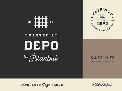 Depo Assets and Colors color istanbul coffee logo business script typography concept brand identity lettering icon