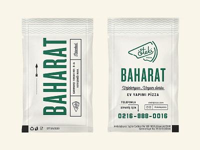 Oteki Pizza Spices lettering concept pizza logo identity branding craft retro minimal spice packaging