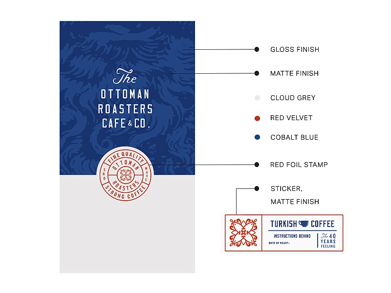 Dribbble ottoman roasters packaging style presentation zeki michael designer istanbul young trend gr