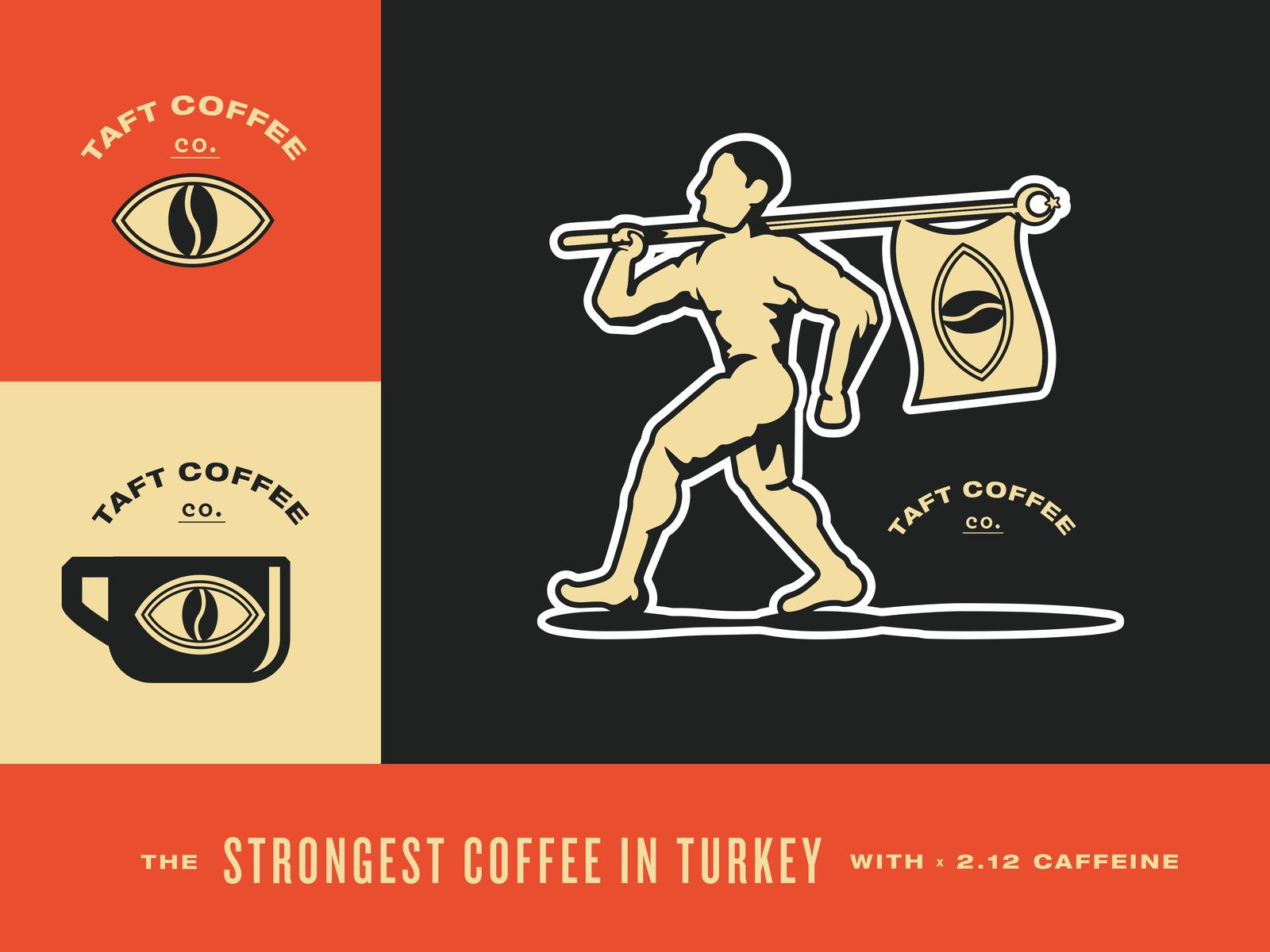Strong coffee turkey identity logo caffeine colour branding packaging istanbul united kingdom design 4x