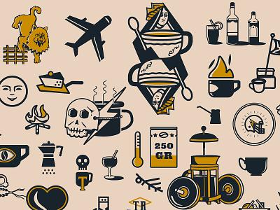 Illustration Portfolio apparel craft identity color brand art concept app vector typography ui badge vintage retro portfolio logo branding icon design illustration