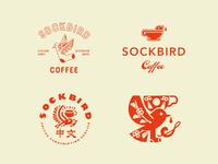 Exploration sockbird istanbul china usa coffee bird illustration logo zeki michael design branding p
