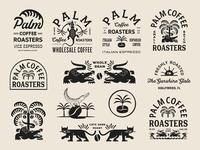 Zeki michael design palm coffee florida new york brew roastery freelance roast design coffee brandin
