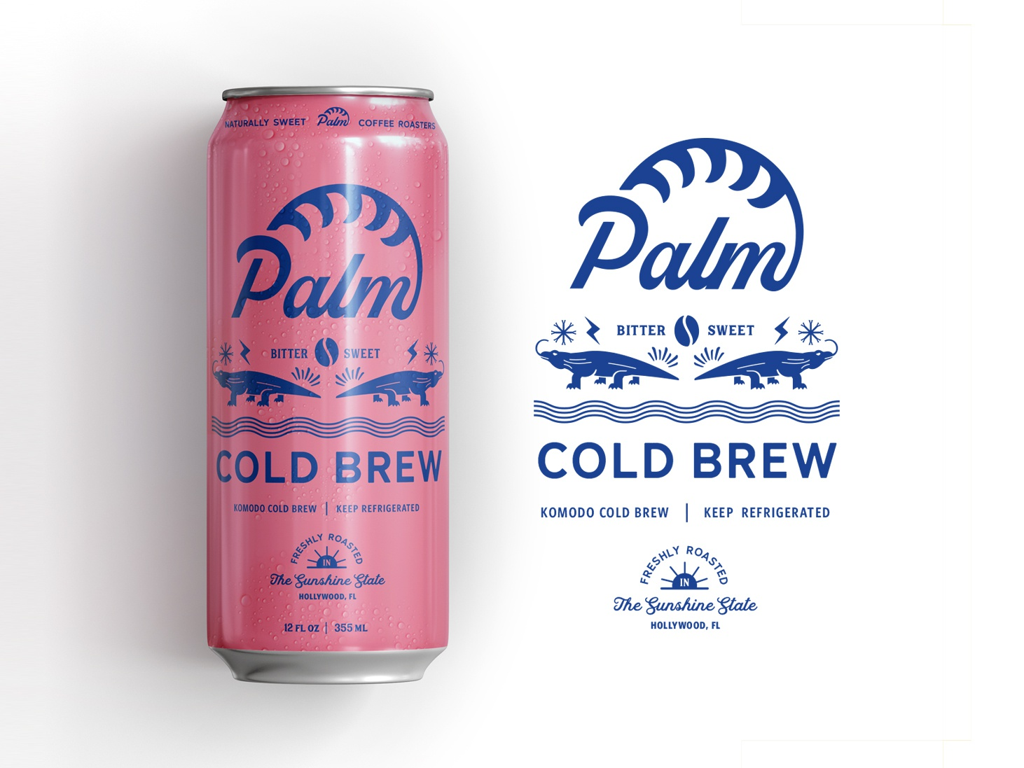 Dribbble cold brew design designs agency can packaging drink florida hollywood beach summer concept
