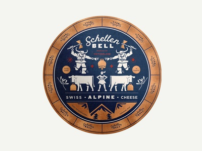 Schellen Bell Cheese Wheel Label