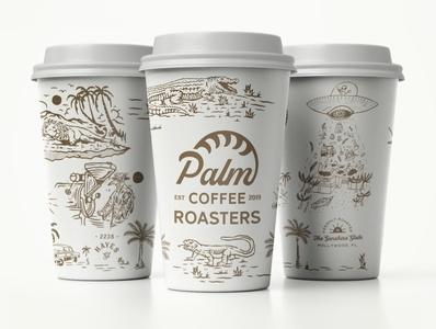 Palm Coffee Paper Cups
