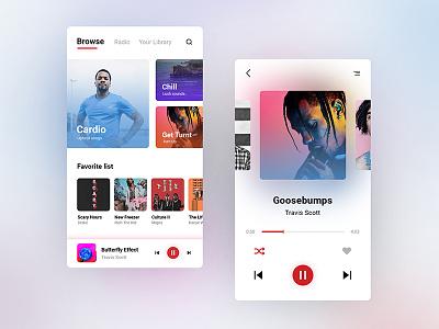 Music Player player app music app design ux ui 009 dailyui009 dailyui