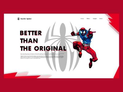 Scarlet Spider Web Design