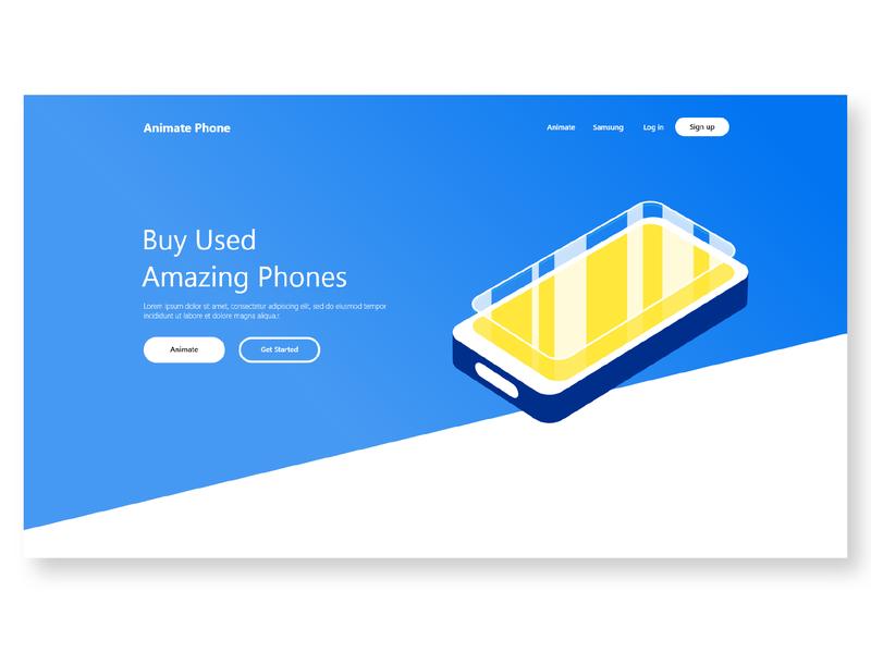 Animate Phone Landing Page graphicdesign designs css landingpage web uxdesign design isometric uiux ui