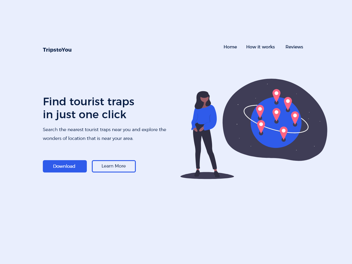 Trips to you Landing Page adobexd uidesign shafix malaysia undraw ui design