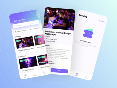 Event Booking App event app event mobile app design app ux ui