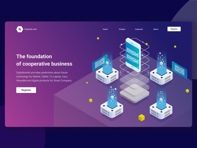Shot UI web - Technology Company