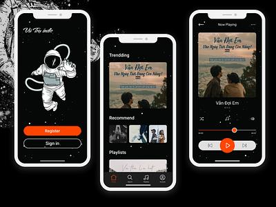 Screen UI appmusic uidesign