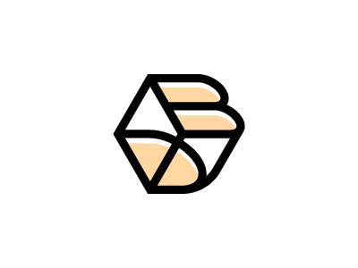 DB or BD logo box cube hexagon bd db logo
