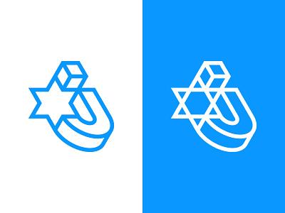 J + Six Pointed Star star of david logos logo