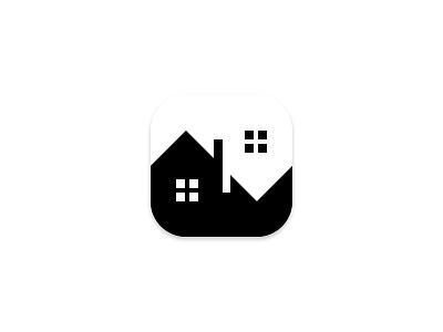 Yin Yang House Logo realestate house home balance harmony