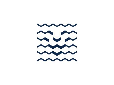 Zig Zag Lion Face logos logo tech wave cat pet animal