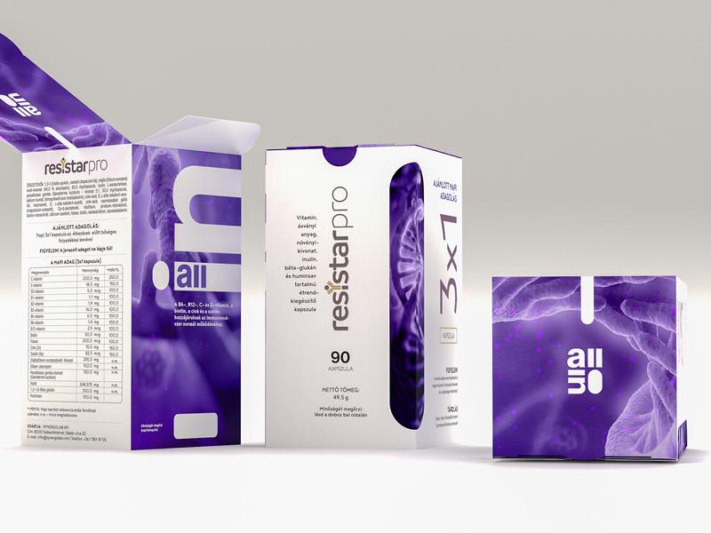 Resistar Redesigned Box Only ultraviolet packagedesign survivor cancer