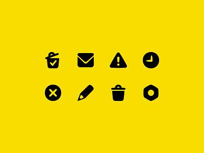 Andy Icons icon settings edit pencil envelope alert history bin trash app andy cartoon
