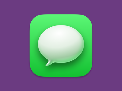 Big Sur Messages Icon, Made with Figma. branding ui big sur icon figma messages