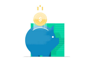 Money Savvy illustration save money money pig