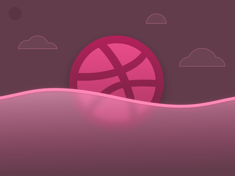 First Dribbble Post illustration