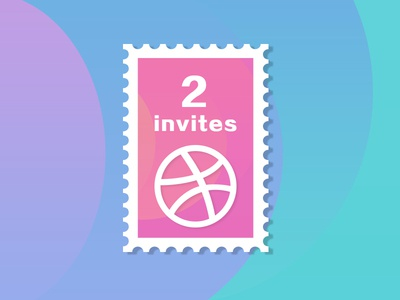 2 Dribbble Invites ! player invites invite invitation dribbble drafting draft community