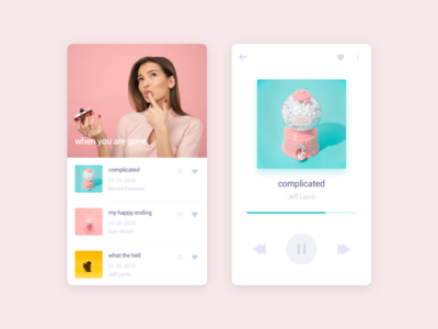 music player sketch ios clean app music