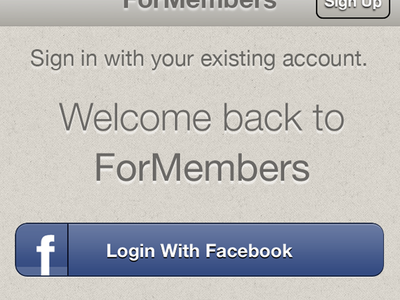 ForMembers Sign In formembers signin iphone
