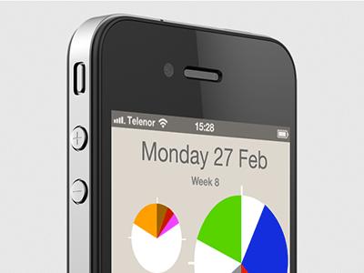 TapCal Calendar Day View calendar iphone app day minimal circles piecharts