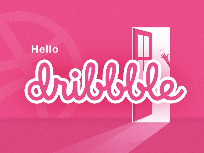 Hello Dribbble👋 dribbble debut shot thanks debuts invite hello dribbble debut illustration