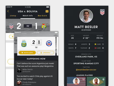 Global Soccer Tournament Mobile App