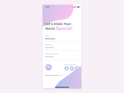 Daily UI Challenge - #1 Sign up