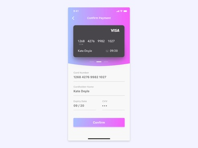 Daily UI Challenge - #2 Credit Card Checkout