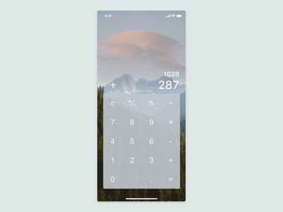 Daily UI Challenge - #4 Calculator
