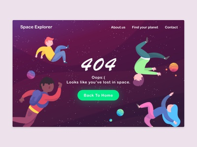 Daily UI Challenge - #008 404 Page