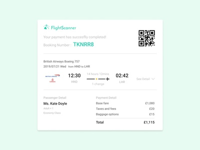 Daily UI Challenge - #017 Email Receipt