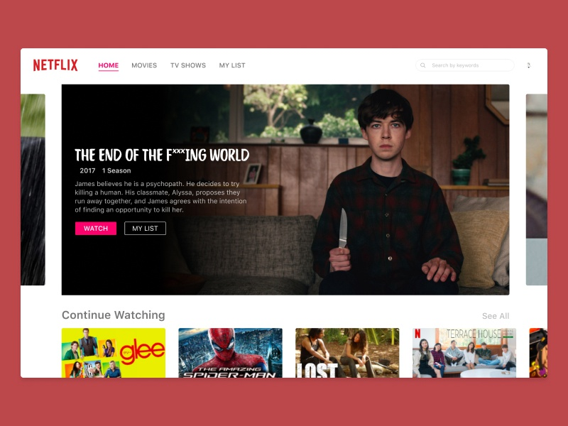 Daily UI Challenge - #025 TV App movie app macbookpro netflix tv app app design ux uxdesign ui uidesign dailyui dailyuichallenge daily 100 challenge