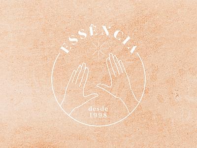 Essência Logo Design aesthetics beautician beauty hands logo massage