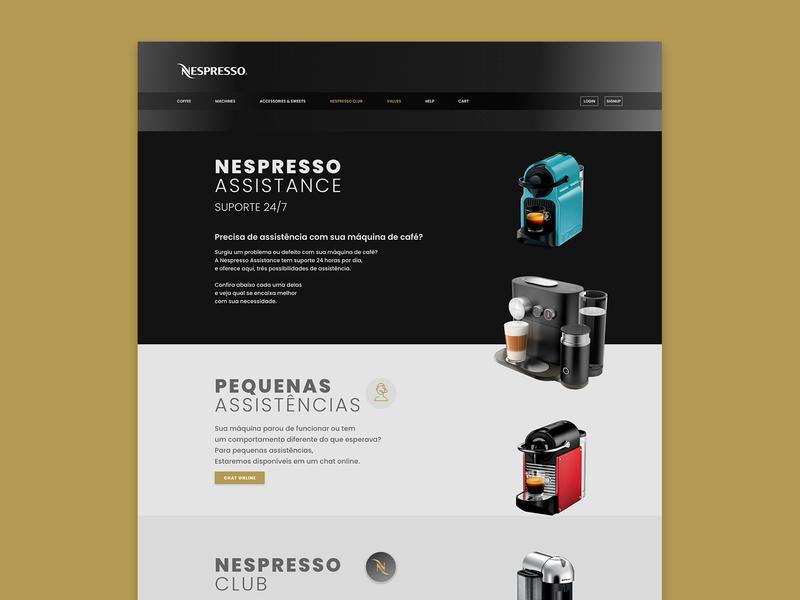 Nespresso Assistance exercising ux exercise ui design ui