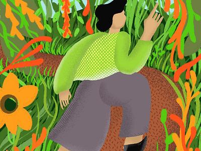 Lost in Quarantine brushes illustration