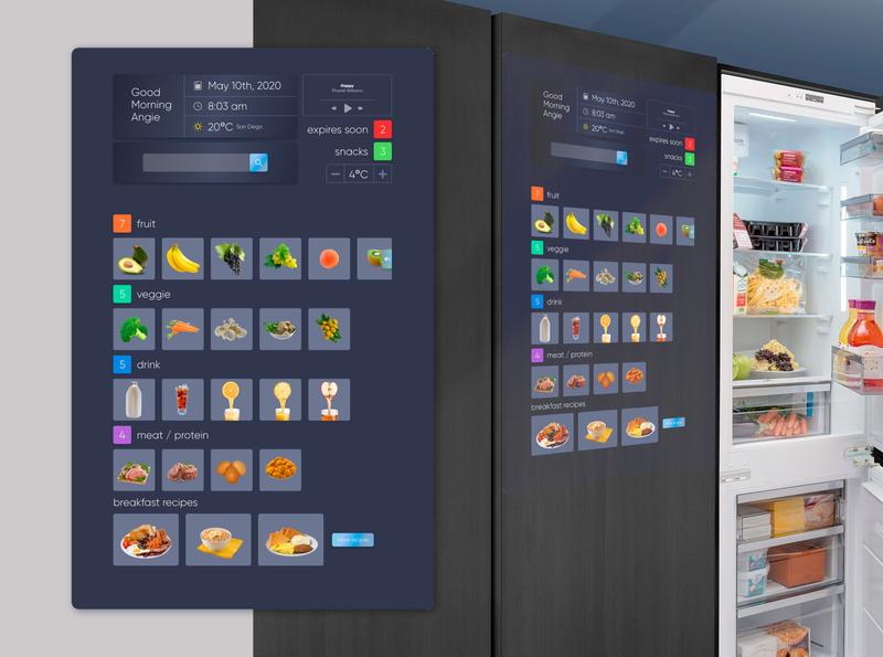 Smart Fridge - UI exercise internetofthings interface smart object fridge challenge app ux design ui