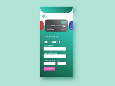 Daily UI #02 | Credit Card Checkout checkout page bank challenge digital web app design ux ui